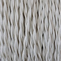 Electrical Twisted Cable 2X o 3X in Fabric Ivory