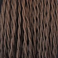 Cavo Elettrico 2X o 3X Treccia in Tessuto Colore Marrone