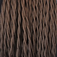 Electrical Twisted Cable 2X o 3X in Fabric Brown