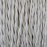 Cavo Elettrico 2X o 3X Treccia in Tessuto Colore Avorio