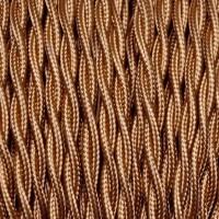 Cavo Elettrico 2X o 3X Treccia in Tessuto Colore Bronzo