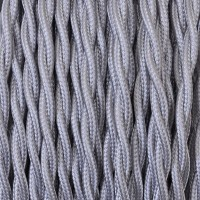 Electrical Twisted Cable 2X o 3X in Fabric Silver