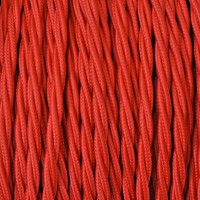 Electrical Twisted Cable 2X o 3X in Fabric Red