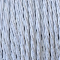 Electrical Twisted Cable 2X o 3X in Fabric White
