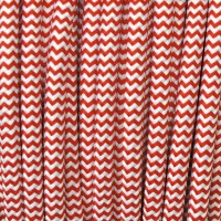 Electrical Round Cable 2X o 3X in Fabric Red and White