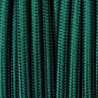 Electrical Round Cable 2X o 3X 10 meters in Fabric Petrol Green