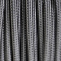 Electrical Round Cable 2X o 3X 10 meters in Fabric Grey