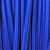 Electrical Round Cable 2X o 3X 10 meters in Fabric Blue