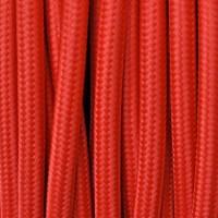 Cavo Elettrico 2X o 3X 10 metri tondo in Tessuto Colore Rosso