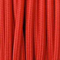 Electrical Round Cable 2X o 3X 10 meters in Fabric Red