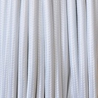 Fabric Cable 2x or 3x 10 meters round in white