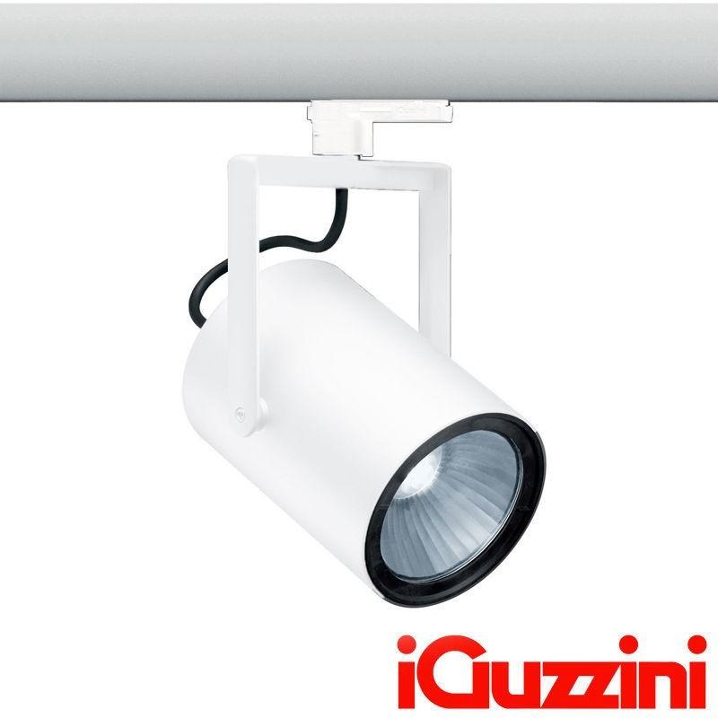 iGuzzini MB40.701 Front Light Proiettore da Binario bianco 30W led 3000lm 3000k