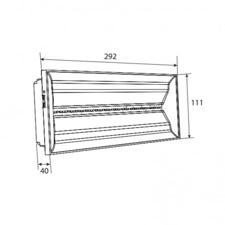 Cooper-Eaton Lampada Plafoniera Emergenza LED 8W 100lm