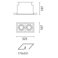 IGuzzini 2682.004 Deep Frame Minimal black 2x35W 2x70W metal halide