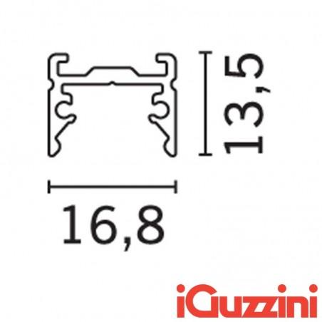 iGuzzini MXK9 Underscore15 bianco 2M Profilo Lineare Basso Minimal per strip led