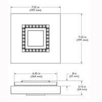 Philips EW Downlight Powercore 9 LED nero 2700K plafone