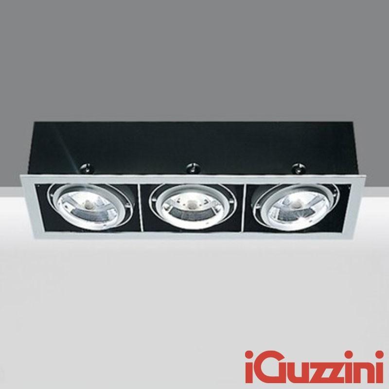 IGuzzini 8881 Frame 3 luci 3 X G53 LED faro incasso