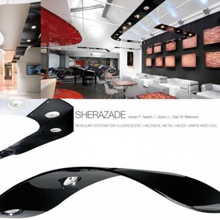Targetti sospensione modulo curva bianco sherazade 1t2166 2x35w hir111 led