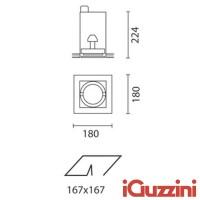 IGuzzini 4245.01 Frame incasso quadrato bianco G12 una luce