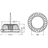 Osram PrevaLED COIN 111 G2 21.6W 30.8V 830 3000K 700 mA 2300 lm Lamp AR111