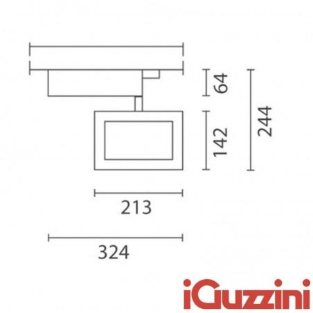IGuzzini 4816.015 Parallel 70W RX7s Grigio proiettore ioduri metallici Binario