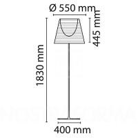 Flos Ktribe F3 Lampada da Terra Argento Fumè Trasparente Bronzo