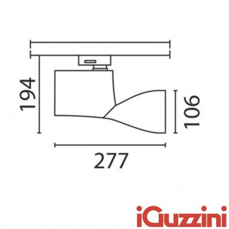 IGuzzini 6408 Lux medium Proiettore da binario Orientabile 70W G8,5