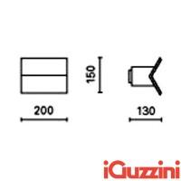 IGuzzini SC02 Corner Bianco Applique alogena Biemissione