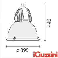 IGuzzini 4306 Berlin Industrial suspension IP65 industrial lamp