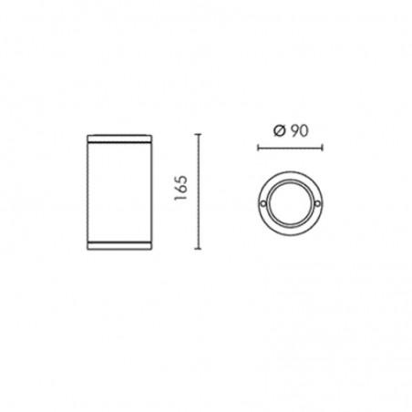 Simes Microslot Downlight GU5,3 12V 20W Plafone a Soffitto per Esterno o Interno IP65