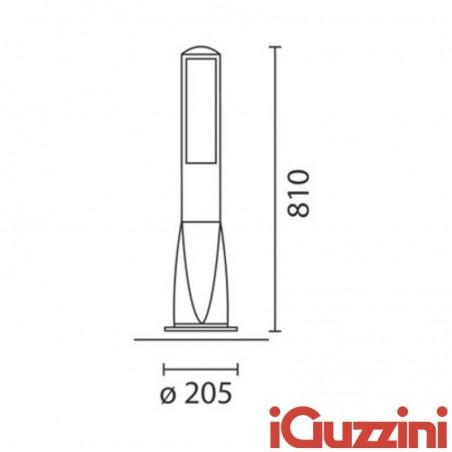 IGuzzini 7281 Path bollard 24W nero lampada Paletto esterno black