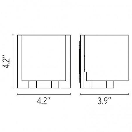 Flos Tilee Applique Lampada a Parete Cromo/Bianco F7460009