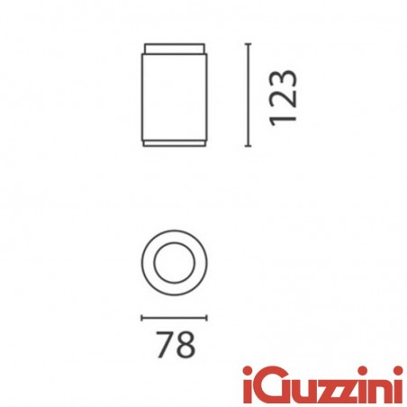 IGuzzini BA80 iRoll LED 4W 280lm outer cylinder surface-mounted outdoor