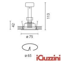 IGuzzini 8002.001 laser faretto Incasso tondo 50W bianco alogena GU5.3 led
