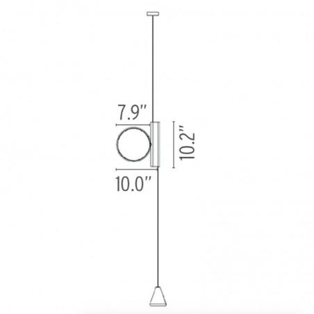 Flos OK Suspension Pendant Lamp Black F4640030
