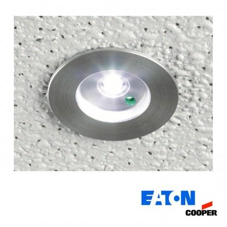 Cooper Eaton MPM Micropoint 3W LED Kit Faretto Incasso Emergenza e Batteria