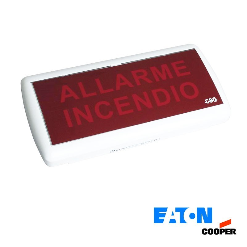 Cooper 5055 LED Indicatore Ottico Acustico Emergenza Anti Incendio IP40