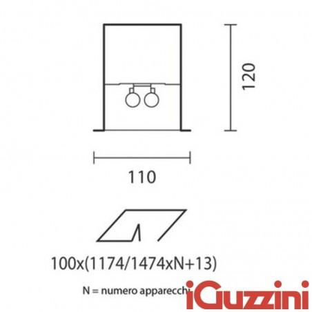 IGuzzini 5826 Lineup incasso lineare interni 2x54w