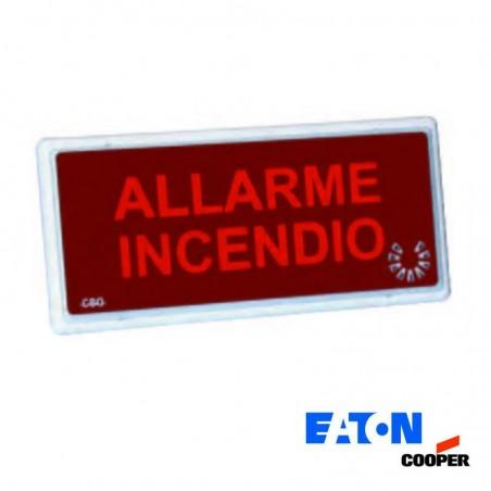 Cooper-Eaton 5955 LED Acoustic Optical indicator Fire Emergency Lamp IP54