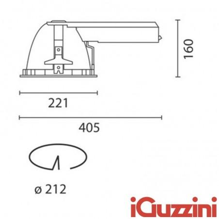 IGuzzini 8318.039 Optica spotlight white 26W Fluorescent Recessed