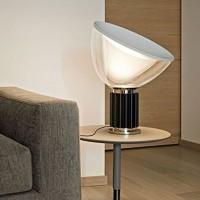 Flos Taccia Small LED 16W Lampada Tavolo Nero Dimmer F6604030 Castiglioni