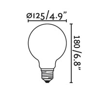 Lampadina LED Globo Chiara 8W - 75W 2700K E27 600lm
