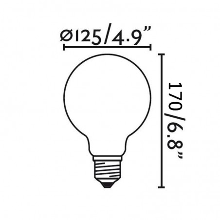 Ideal Lux LED Lamp E27 Globo D120 8W-75W 1000 lm