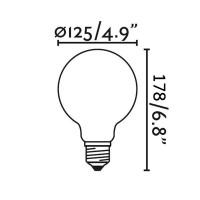 Bot Lighting Shot Lamp Globe 125 LED E27 8W 2700K 1055lm