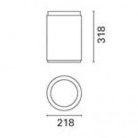 IGuzzini B757 IRoll plafone esterni cilindrico 70W G12