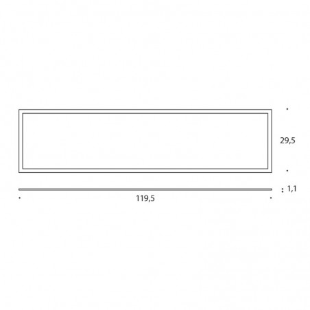PAN Sibilla INC1250 LED 40W 4000K 30x120 Tableau Recessed Ceiling Panel