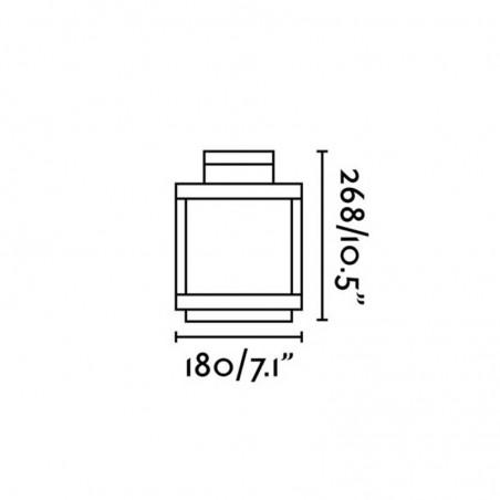 Faro KERALA LED Lampada portatile ricaricabile IP54 grigio scuro uso Esterno e interno