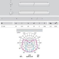 Metalmek T5 1x35W Regletta Plafone per Tubolare Fluorescente Bianco