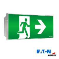 Ceiling led emergency exit left right cooper 150lm 11w knows and if autotest