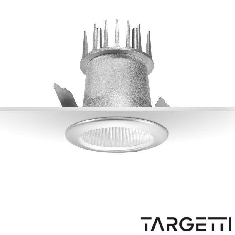Targetti faretto incasso quick led 10w 3000k luce calda 1t2420